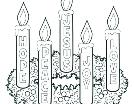 550x425 Advent Wreath Coloring Pages Printable Advent Wreath Coloring