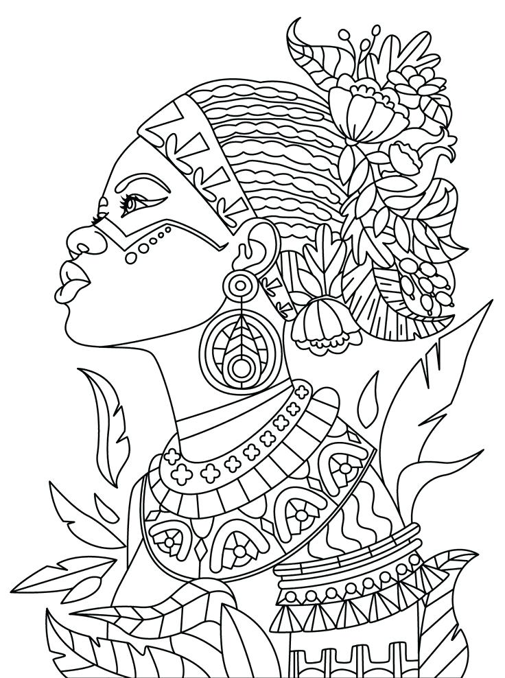 736x988 African Coloring Pages Coloring Book App For Adults Mandala Relax