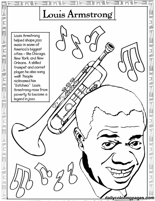 617x800 Famous African Americans Coloring Pages Free Download On American