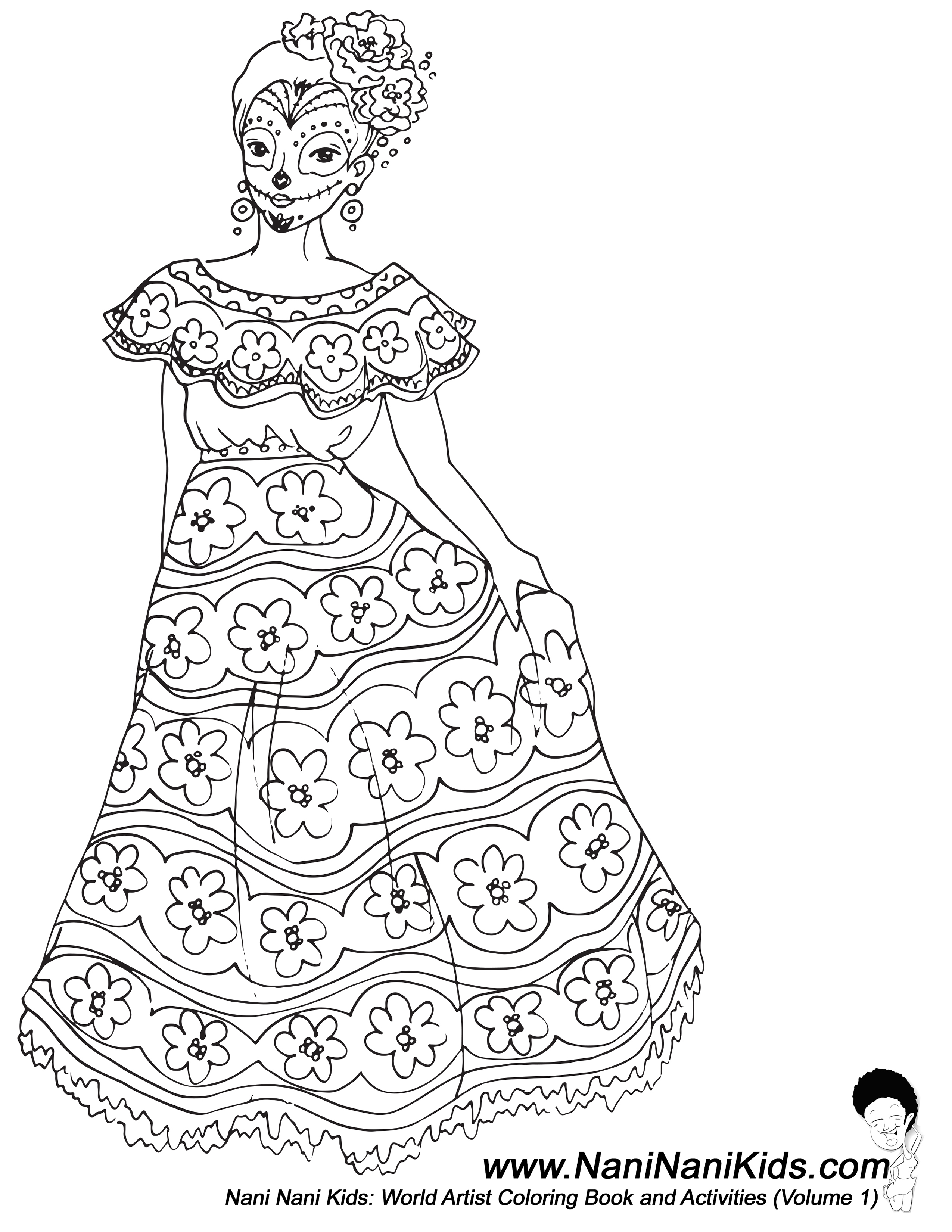2550x3300 Adorable African American Coloring Pages
