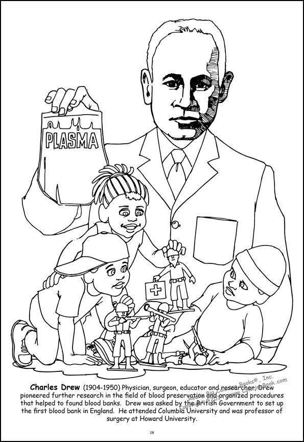 595x864 African American Coloring Pages African American Leaders Giant
