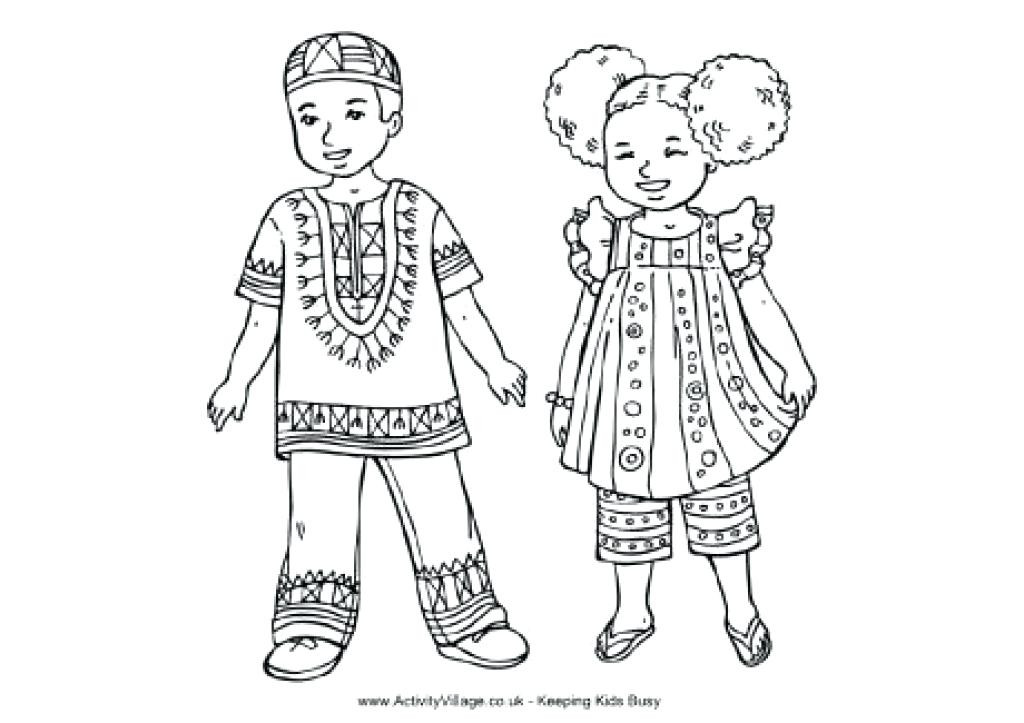 1024x723 African American Coloring Pages