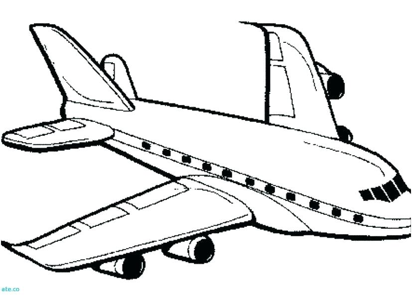Free Airplane Coloring Pages At Getdrawings Free Download