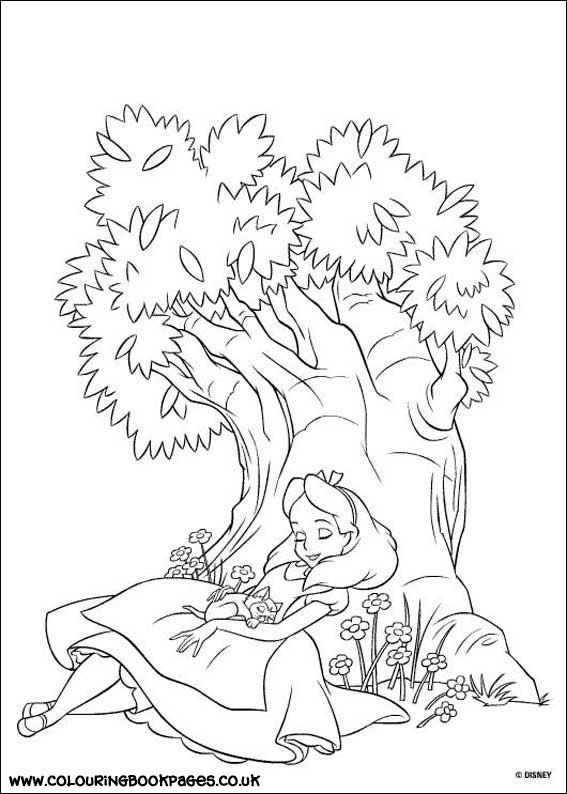 Free Alice In Wonderland Coloring Pages