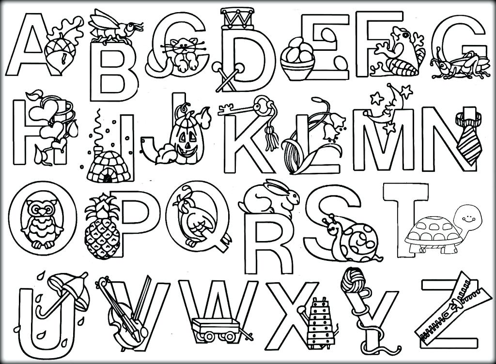 1024x752 Animal Alphabet Coloring Pages Free