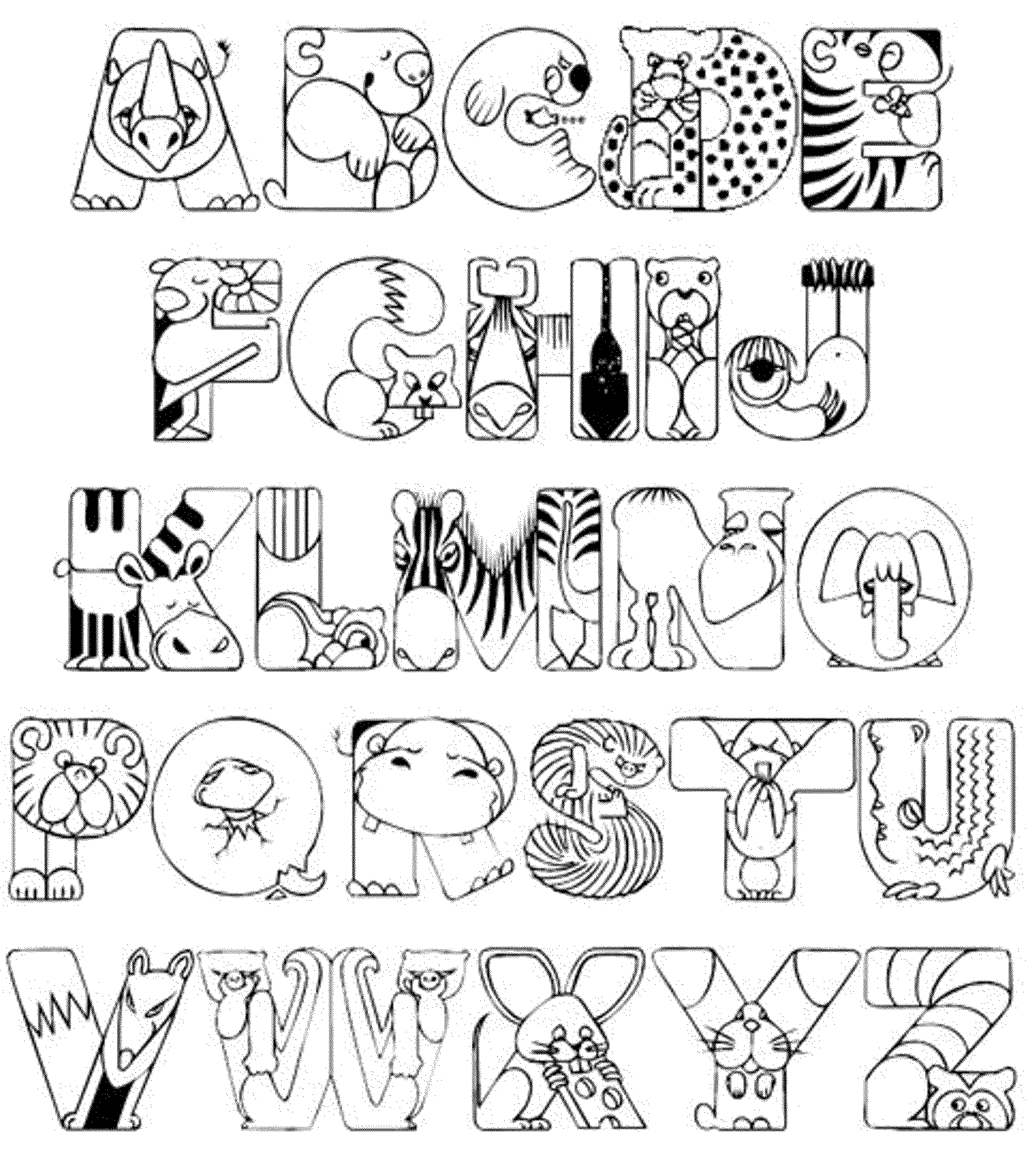 2000x2292 Entire Alphabet Coloring Page Whole Pages Free Printable Az