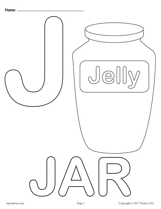 541x700 Letter J Alphabet Coloring Pages Free Printable Versions