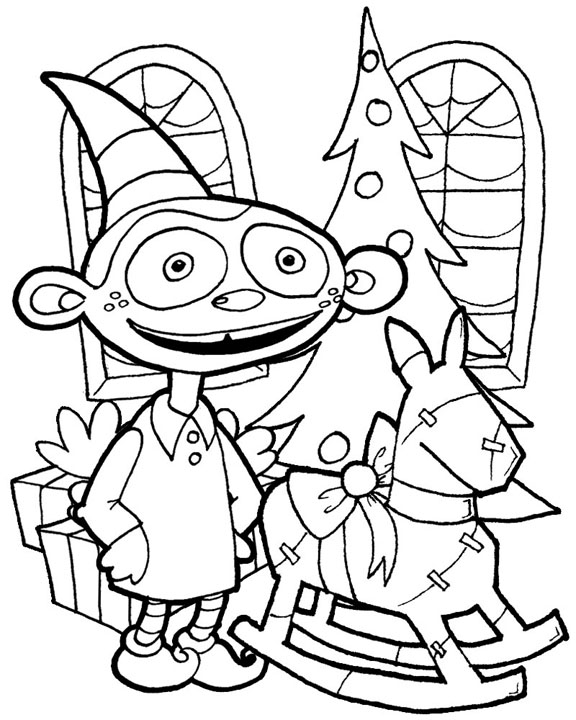 576x720 Fun Christmas Coloring Pages