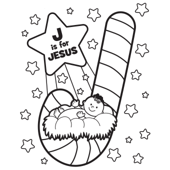 340x340 Jesus Coloring Page