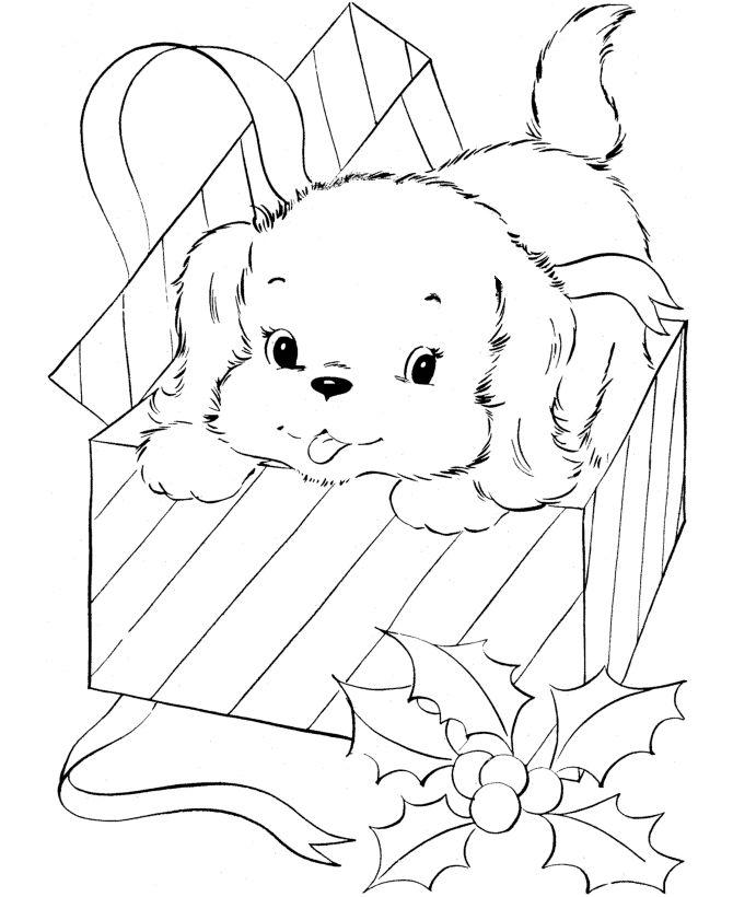 670x820 Drawn Puppy Fun Christmas