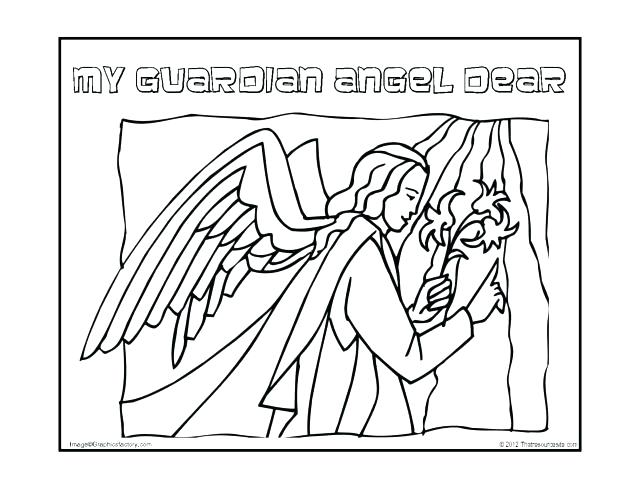 640x494 Guardian Angel Coloring Pages Free Angel Coloring Pages Guardian