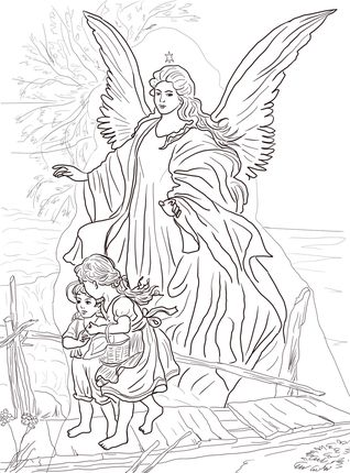 Free Angel Coloring Pages For Adults