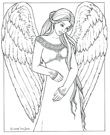 432x533 Angel Coloring Pages Printable Printable Angel Coloring Pages