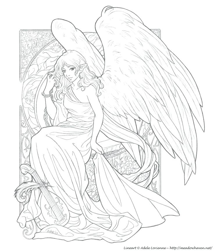 736x863 Angels Coloring Pages Printable Angels Guardian Angel Coloring