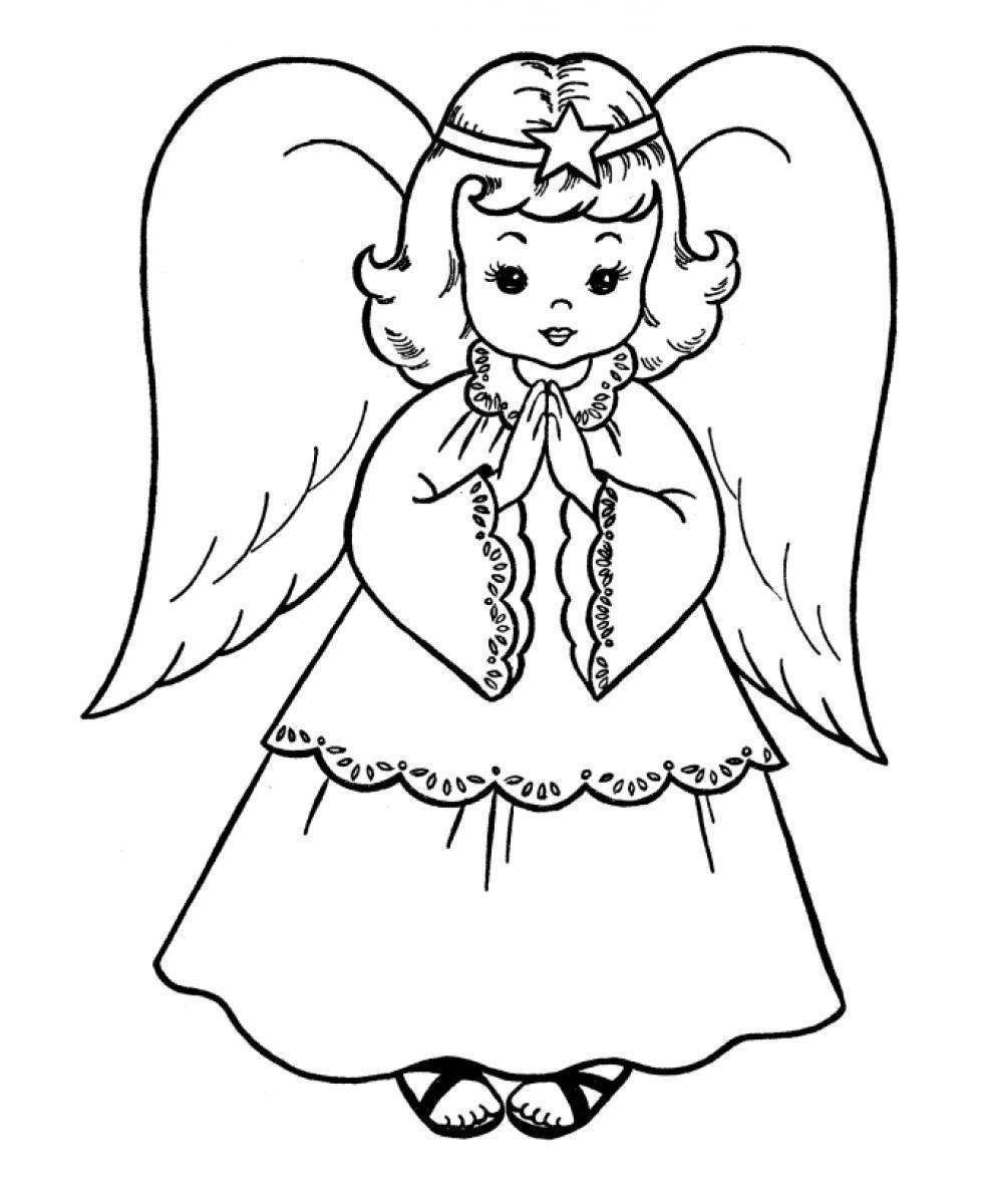 980x1200 Astonishing Printable Angel Coloring For Kids Page Adult Fish