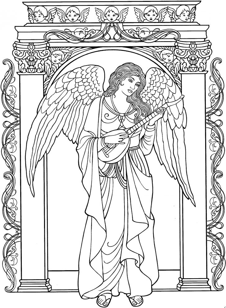 728x993 Christmas Angel Coloring Pages Bing Images Bordados Male Color