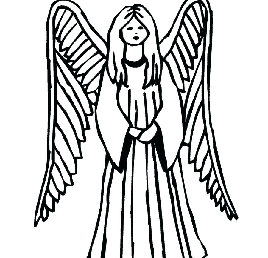 900x864 Free Angel Coloring Pages Angels Coloring Pages Free Angel Page