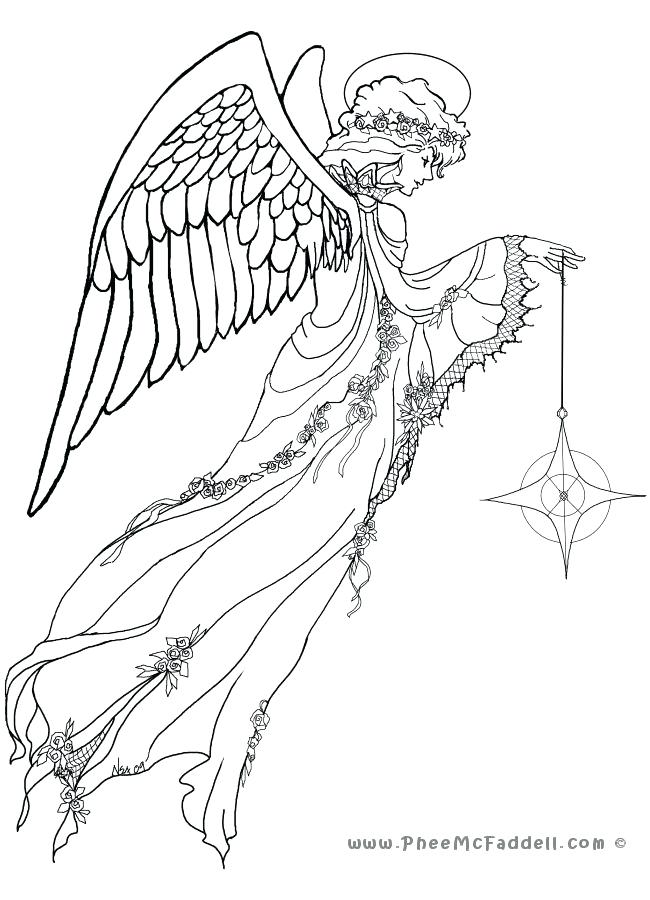 650x900 Free Angel Coloring Pages Angels Coloring Pages Print Angels