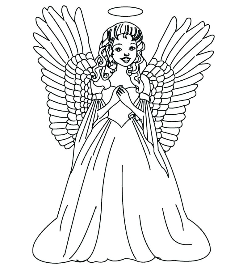 800x864 Free Printable Christmas Angel Coloring Pages For Adults Packed