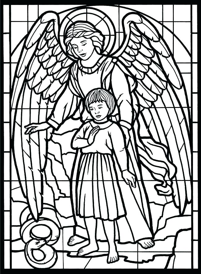 650x886 Guardian Angel Coloring Page Angels Coloring Pages Anime Dark