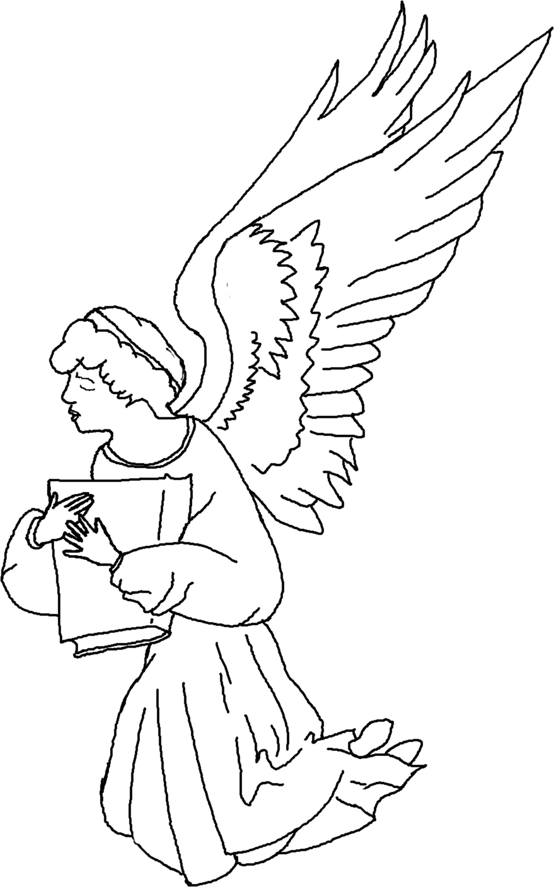 1876x3000 Printable Angel Coloring Pages Printable Coloring Page To Print