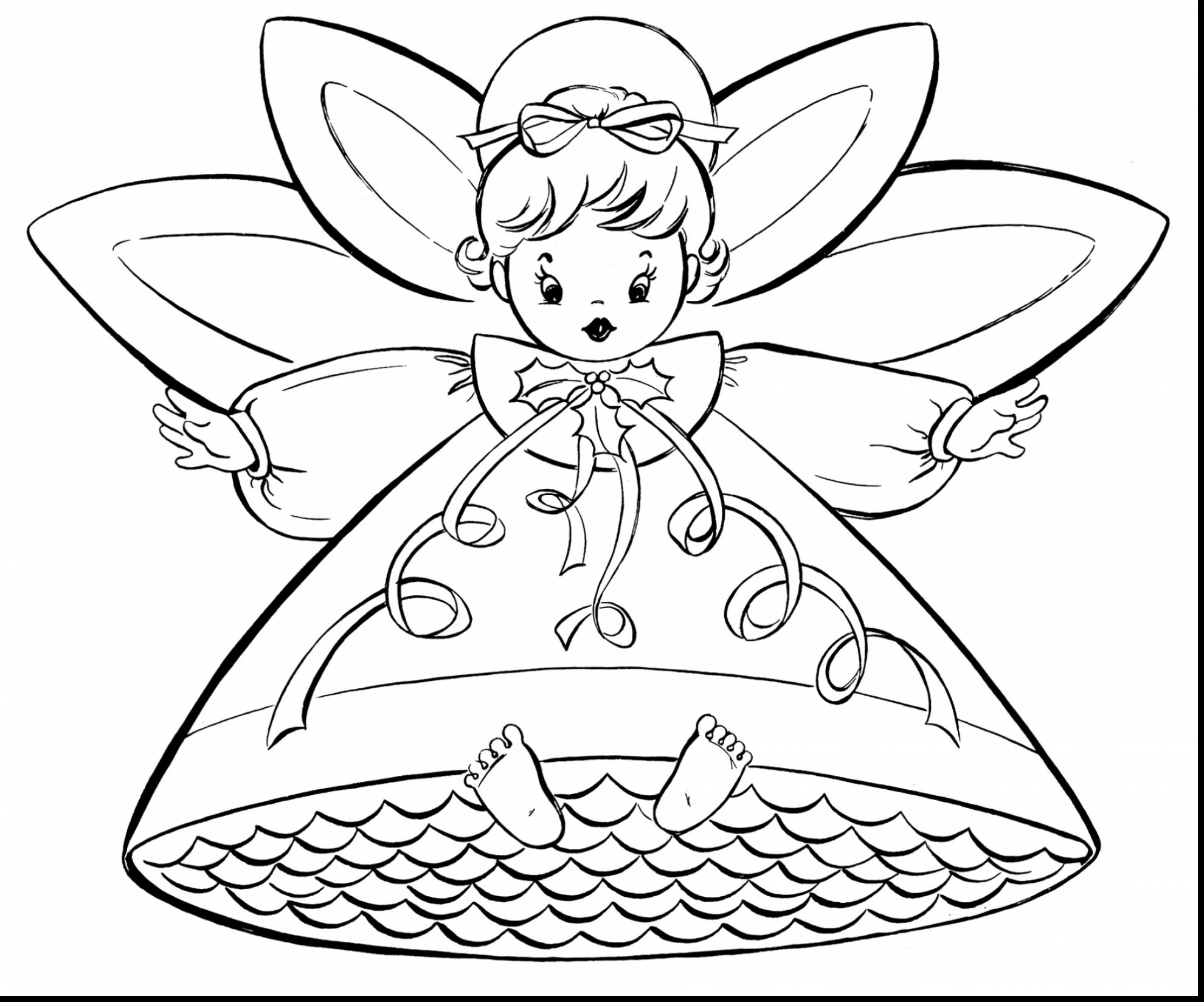 1980x1648 Wonderful Angel Coloring Pages Free Christmas Retro Angels