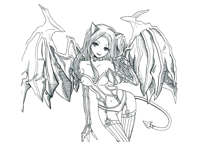 700x500 Angel Coloring Pages