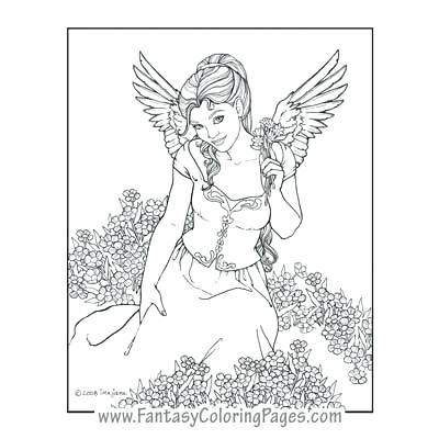 400x400 Angel Coloring Pages Angels Sing Angel Fish Colouring Pages