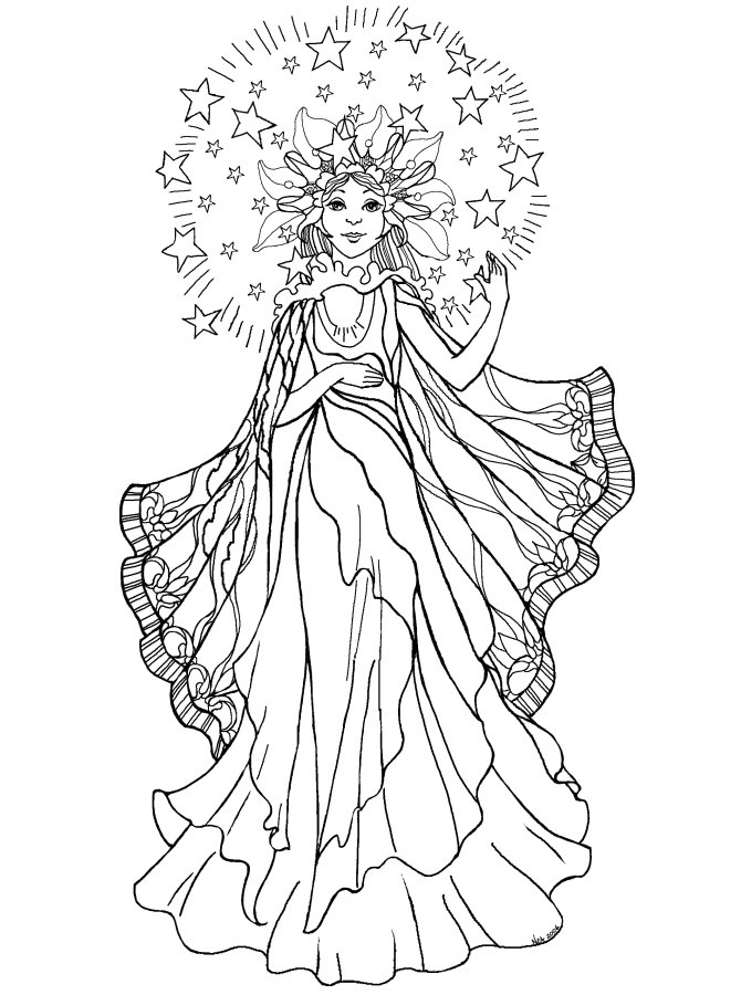 670x900 Angel Coloring Pages For Adults Coloringstar