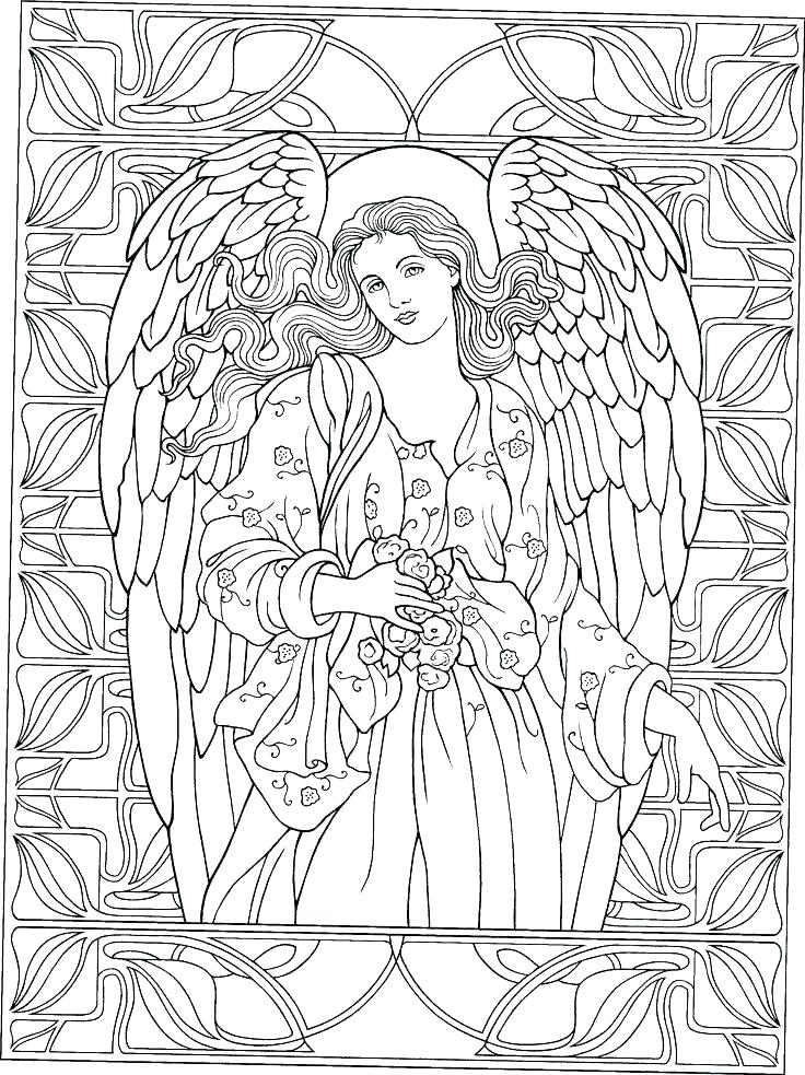 736x983 Angel Coloring Pages Free Angel Coloring Pages Full Size