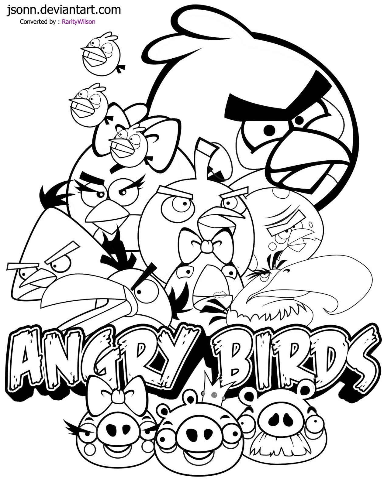 Free Angry Birds Coloring Pages