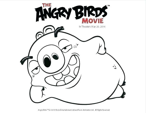 607x469 Coloring Page Of A Bird Coloring Page Angry Birds Go