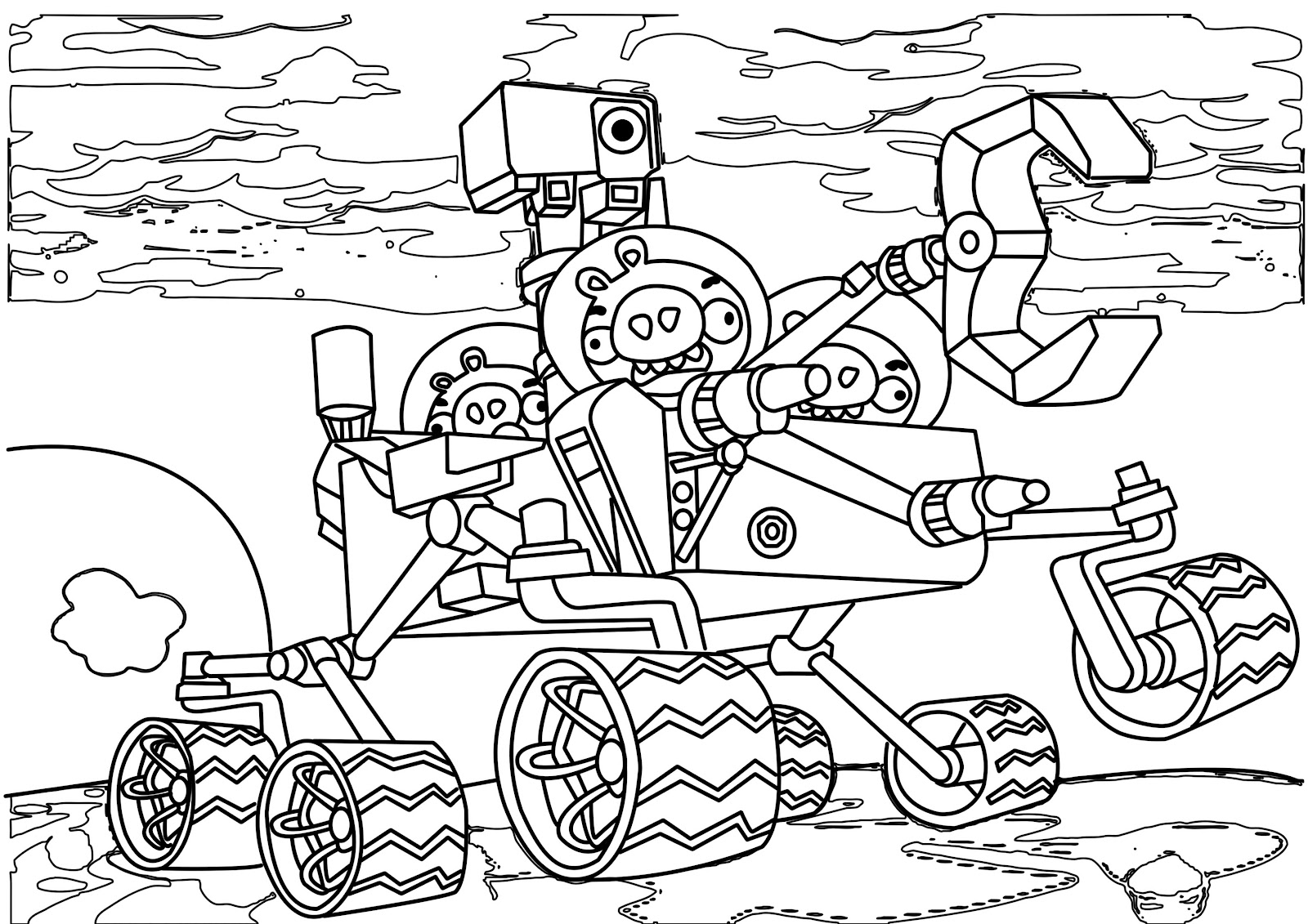 1600x1131 Edge Angry Birds Bad Piggies Coloring Pages Aka Pigs Page Free