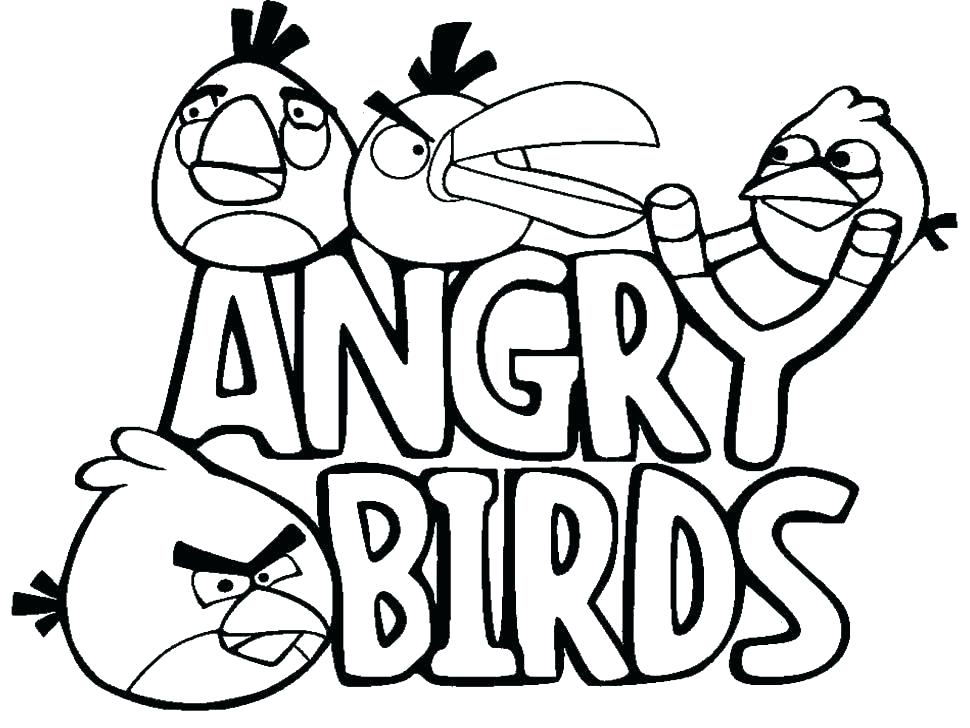 970x728 Angry Birds Coloring Pages Free Angry Birds Color Pages Coloring
