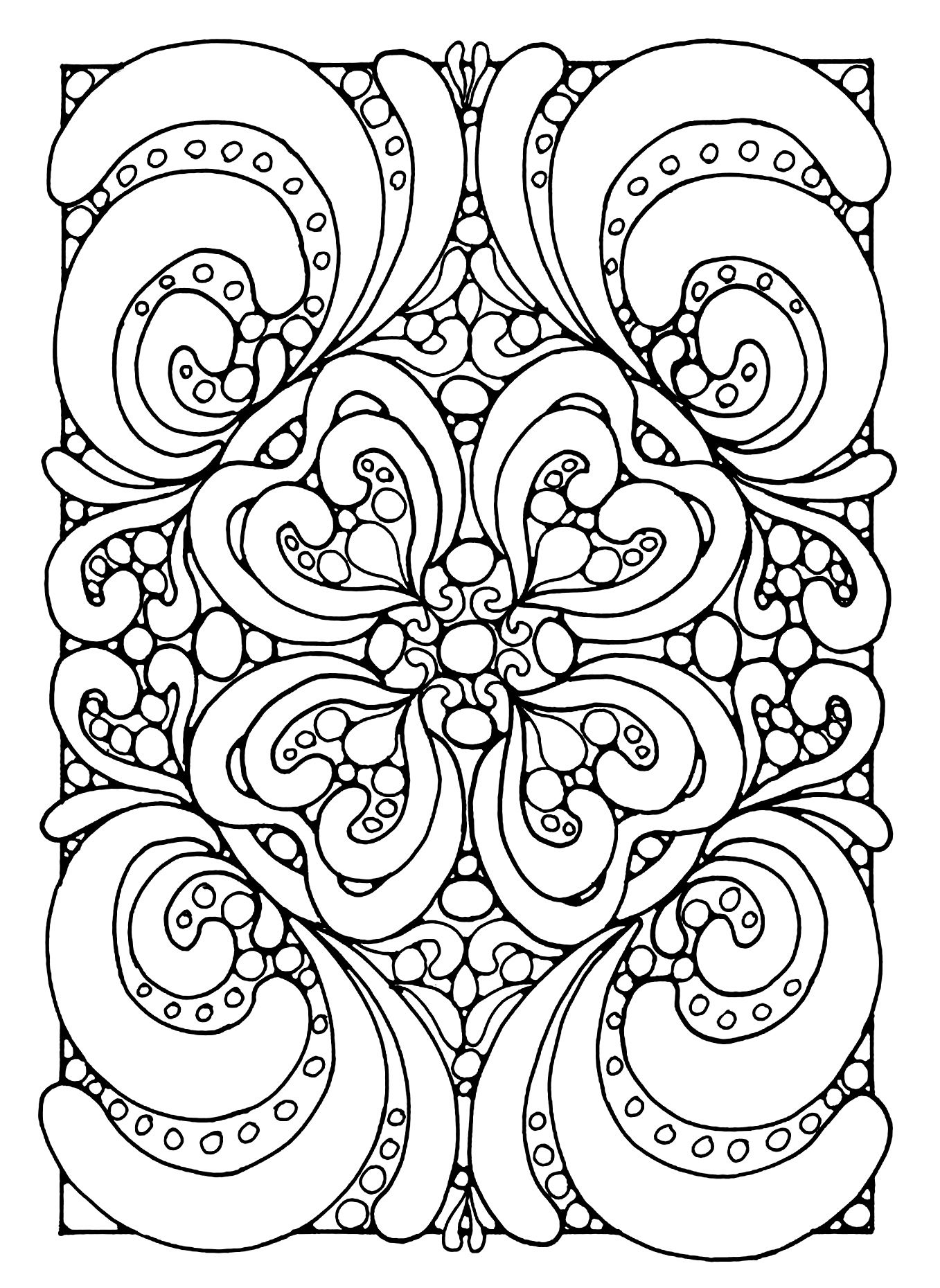 1357x1860 Free Coloring Page Abstract Coloring Pages