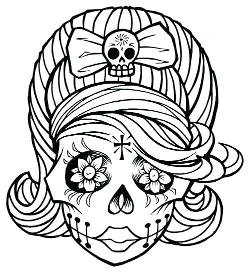 500x547 Good Anti Stress Coloring Pages Printable And Skull Coloring