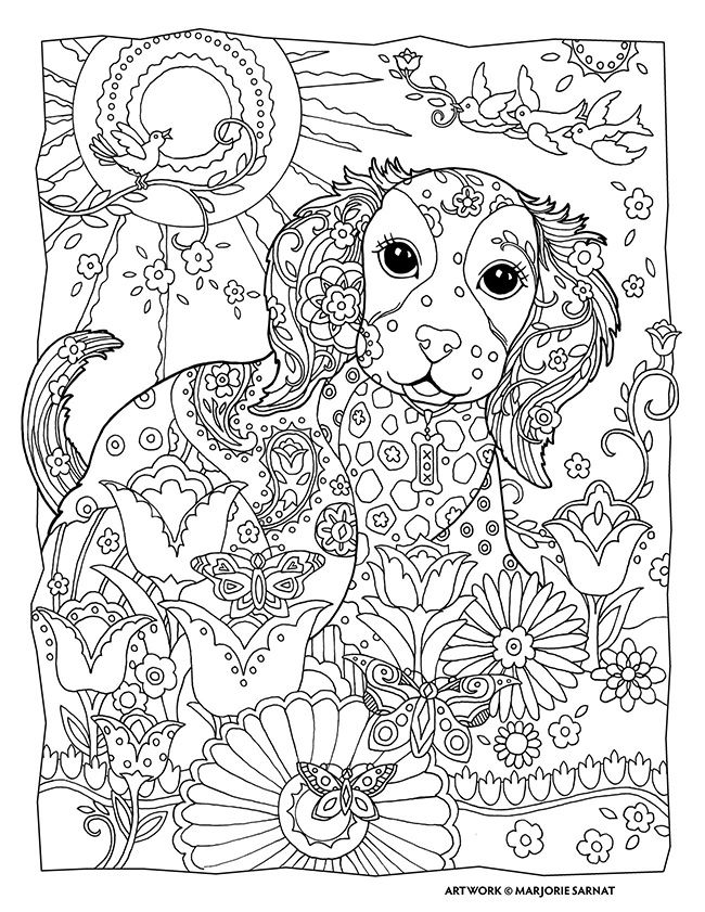650x841 Puppy Coloring Book Coloring Page