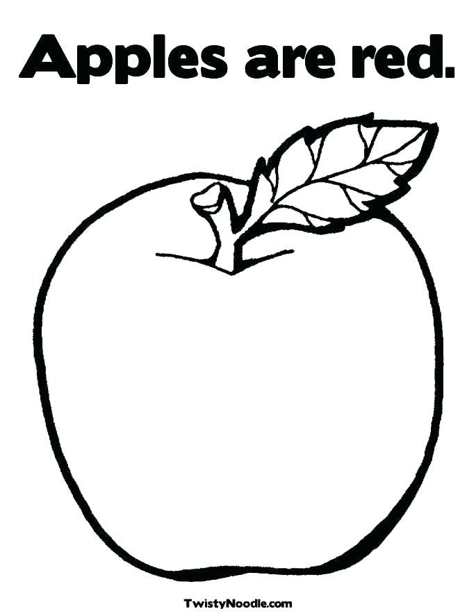 685x886 Apple Color Page Apple Color Pages Apple Coloring Pages And Apple