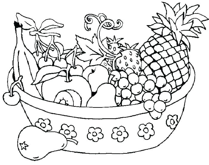 The best free Fruit coloring page images. Download from 1011 ...