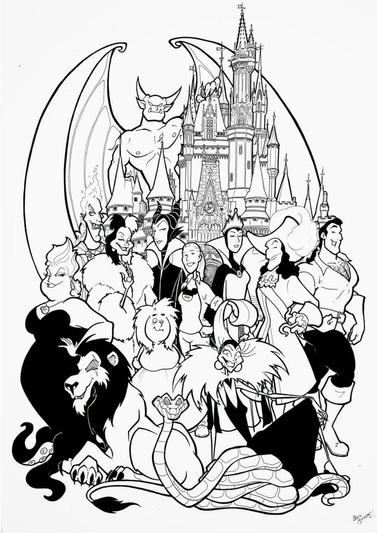 752x1063 Disney Characters Coloring Pages Gallery Cute Character Drawing