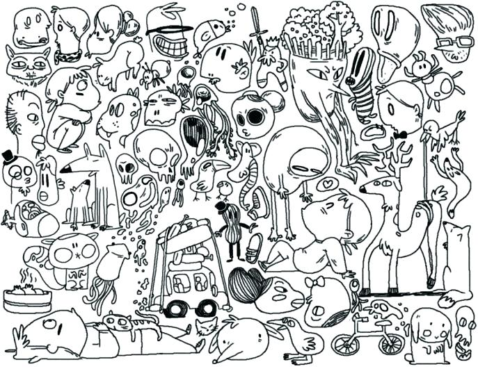 687x531 Free Doodle Art Coloring Pages