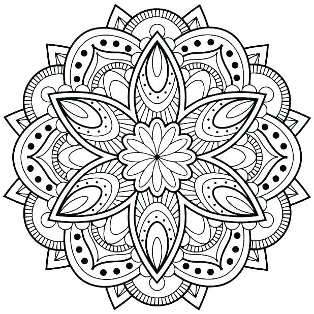 618x618 Online Mandala Coloring Pages Free Coloring Pages Tree Mandala