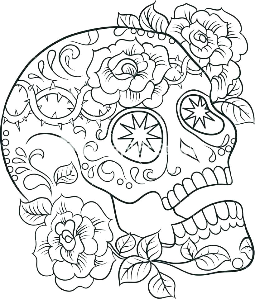 818x960 Sugar Skull Coloring Pages Printable Sugar Skull Coloring Pages