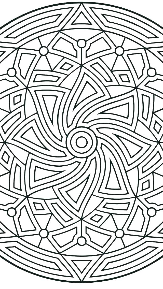 640x1136 Free Design Coloring Pages
