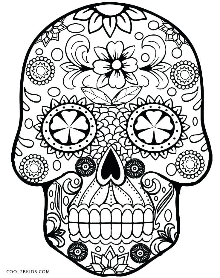 736x930 Art Coloring Pages Sugar Skull Coloring Pages Skull Coloring Pages