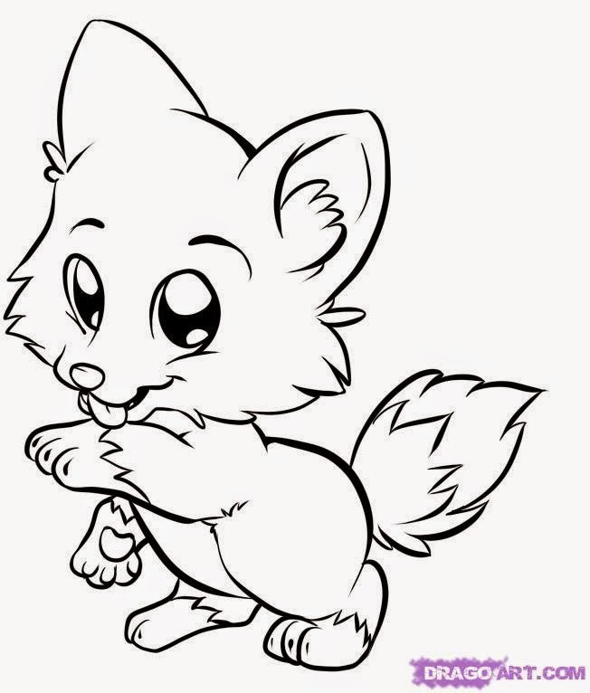 652x766 Cute Baby Animals Coloring Pages