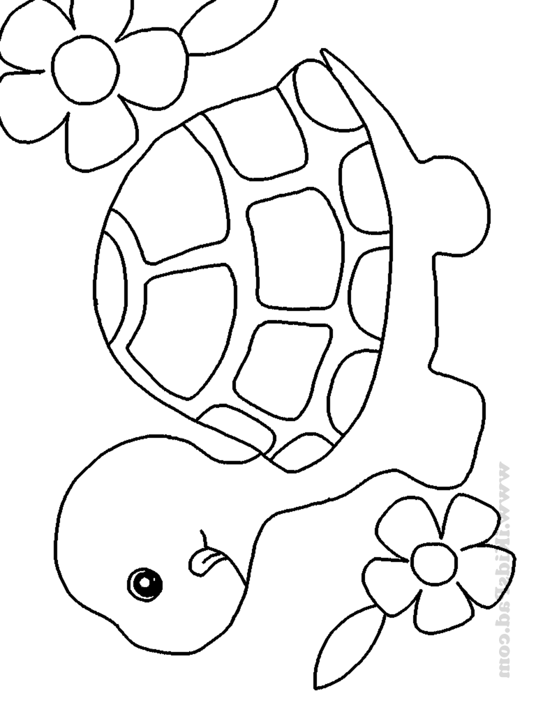 768x1024 Latest Cute Animal Coloring Pages For Adults Baby Animals