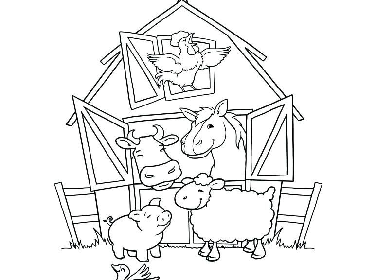 773x576 Animal Coloring Pages Free Printable Animal Coloring Pages Farm