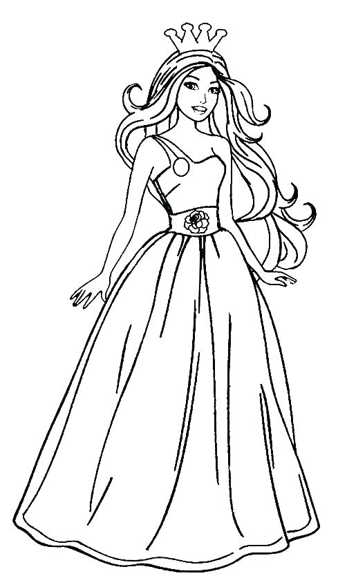 502x850 Free Barbie Coloring Pages Barbie Images For Coloring Simple