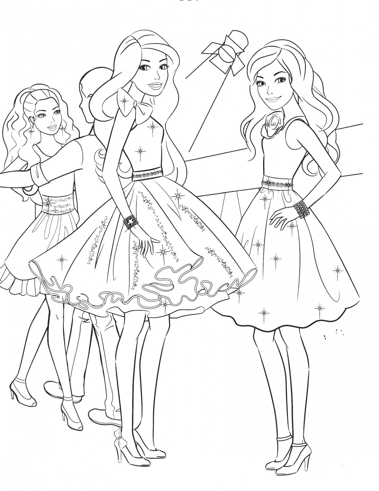 1445x1870 Free Barbie Coloring Pages Simple Online Printable Mermaid Print